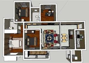 30余款住宅设计、景观设计、建筑设计SU(草图大师)模型