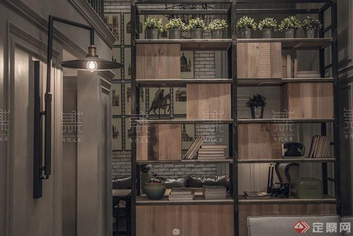 现代中式风格茶室室内设计方案效果图高清图片
