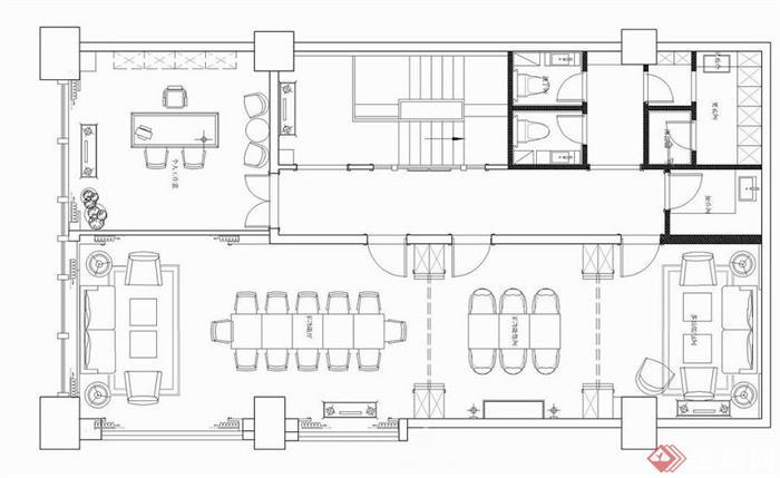 现代中式风格茶室室内设计方案效果图