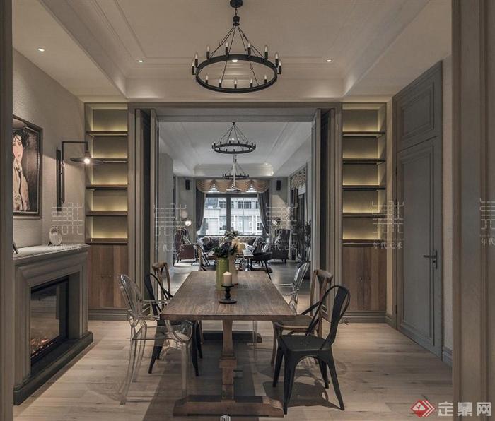 現代中式風格茶室室內設計方案效果圖