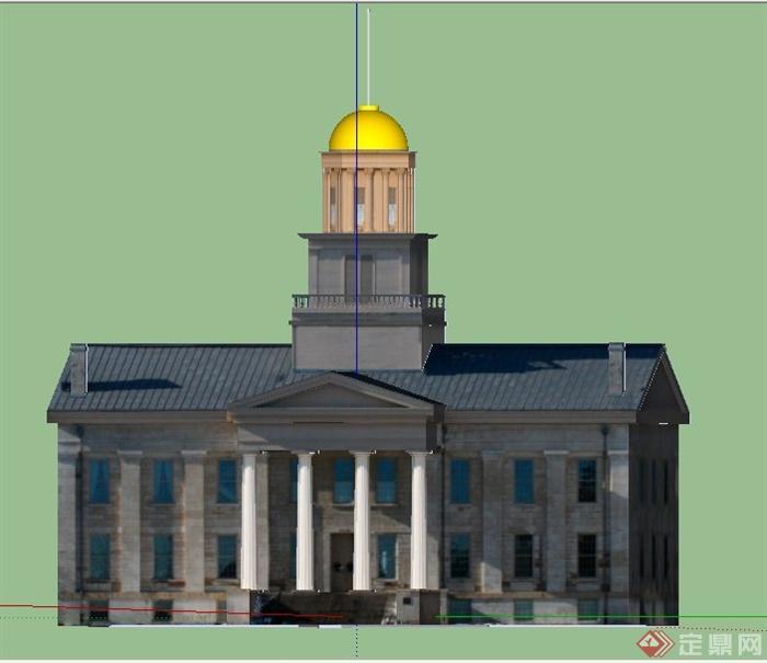 某欧式风格国会大厦建筑设计su模型