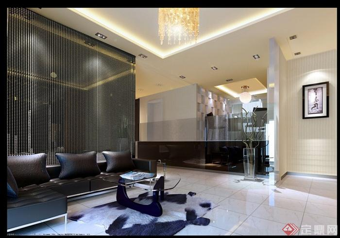 现代黑白色调住宅室内设计施工图(含效果图),图纸包括平面布置、原始结构、地面铺装、天花吊顶、灯具开线图、插座布置、立面图、大样图,图纸内容完整细致,具有一定参考价值。