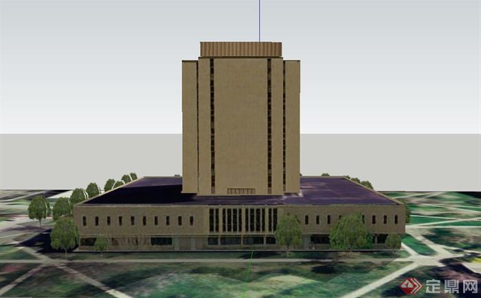 某欧式多层宗教教堂建筑设计su模型