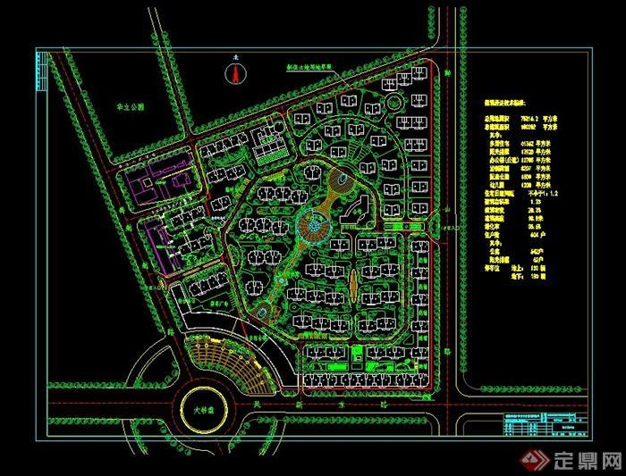 个小区规划设计CAD总平面图图片