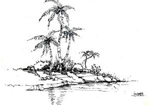 景观设计钢笔手绘图-其他园林景观细部图片