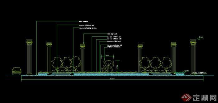 园林景观雕塑花池设计cad施工图