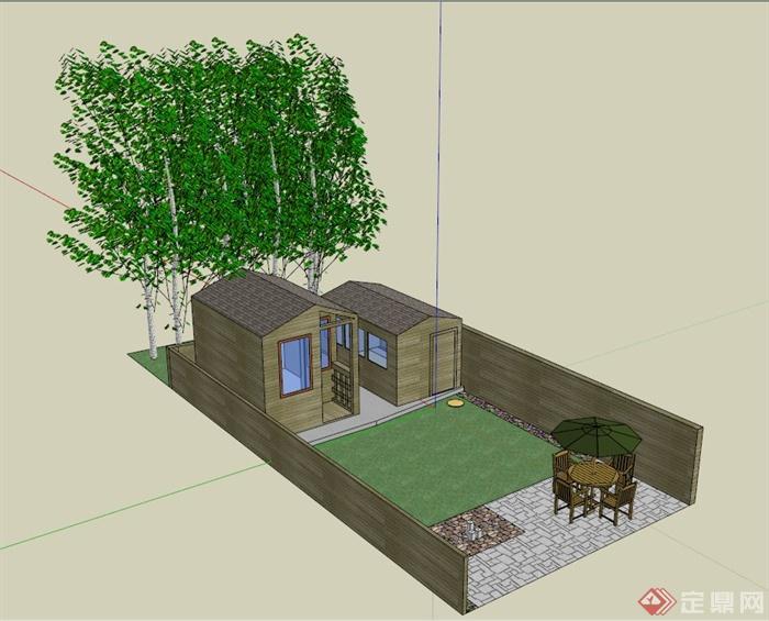 庭院模型手工制作