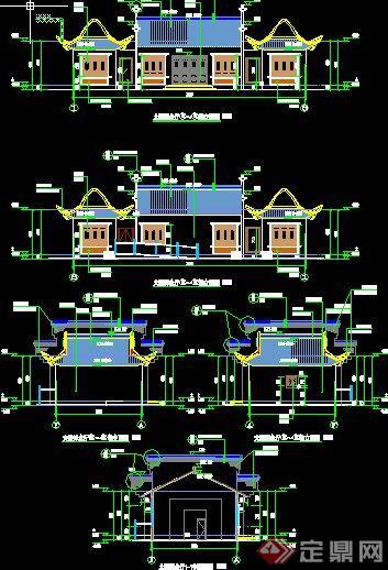 某中式仿古悼念厅,火化厅建筑施工图设计[原创]