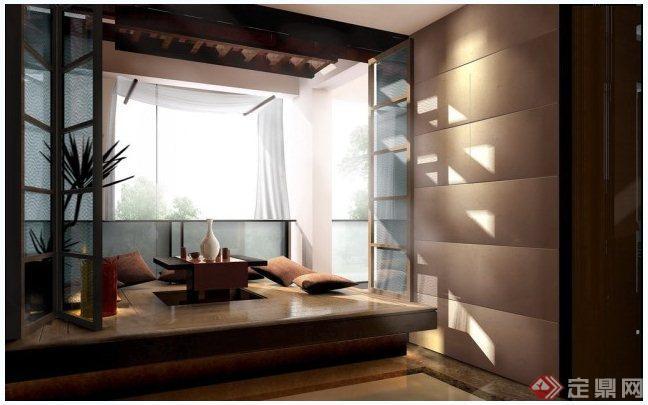 某欧式风格别墅室内设计施工图(含效果图)