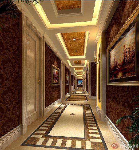 欧式风格茶楼室内设计方案图及效果图