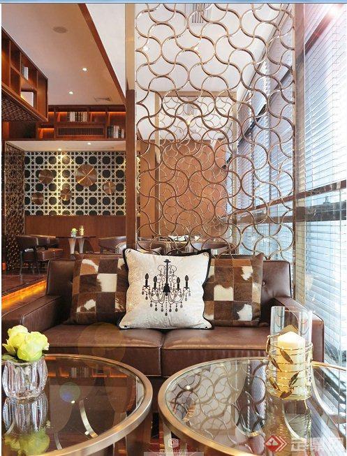 现代中式咖啡厅室内设计实景图[modern chinese style图片
