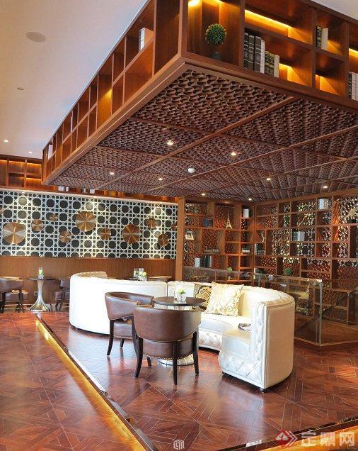 咖啡厅室内设计实景图,设计整体美观大方,细节处理较好,空间布局合理