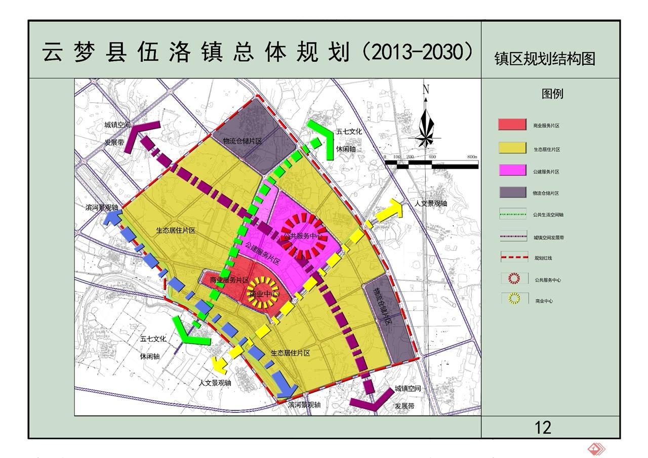 12镇区规划结构图