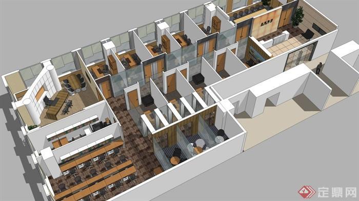 某现代风格办公楼层室内设计方案