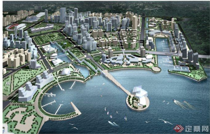 某城市中心区城市规划设计方案[原创]