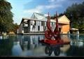 售楼处,售楼部,商业建筑,雕塑,水池