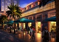 商业街,商业街景观,商业环境,铺装,桌椅