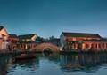 旅游景观,滨水景观,旅游景区,园桥,古建筑
