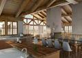 别墅空间,餐桌椅,吧台,柱体