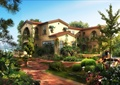 别墅,别墅建筑,别墅景观,庭院景观,花园景观