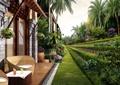 庭院,庭院景观,平台,草坪,植配