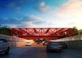 鋼架橋,人行橋,道路