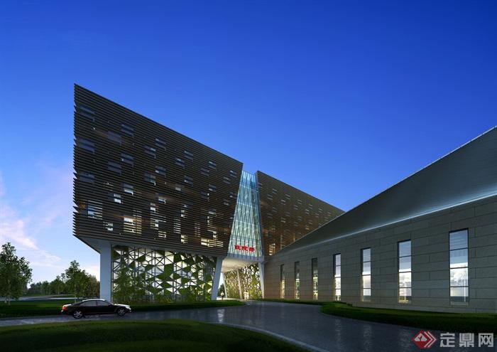 某医院住院部建筑设计效果图-住院部医院建筑医疗建筑