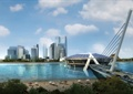 商业中心,商业建筑,桥梁,滨海社区