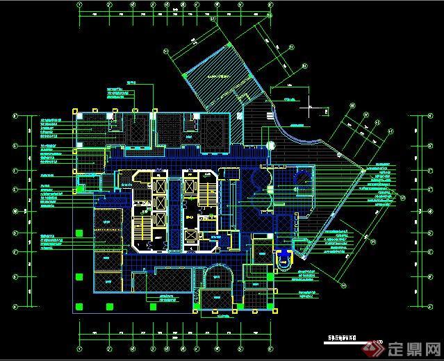 欧式风格咖啡厅室内设计施工图(含效果图)