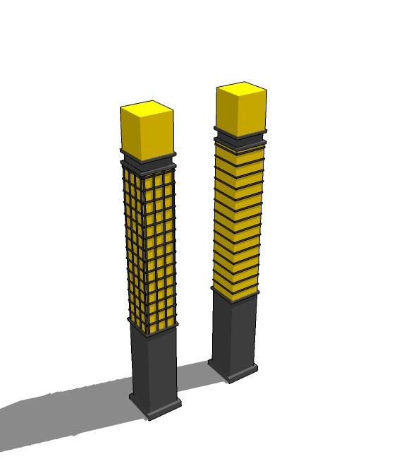 一个新中式灯柱设计su模型[原创]