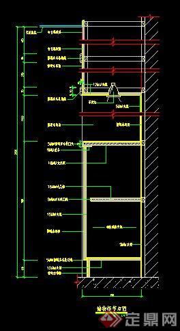 6款室内家具储物柜节点详图