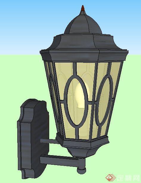 园林景观灯柱,壁灯,小品su模型