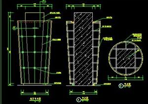 室内装饰多种圆柱施工图