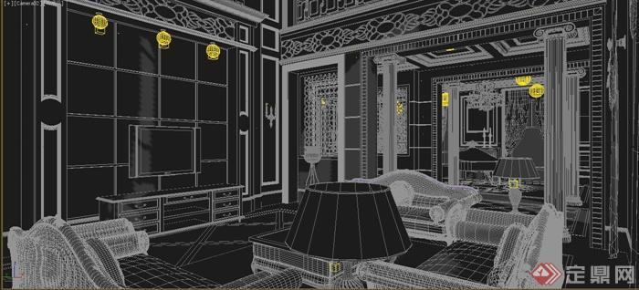 某多层别墅空间家装设计3DMAX模型