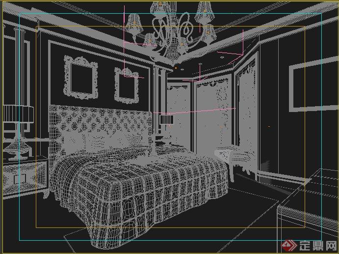 现代风格住宅卧室室内装修3dmax模型