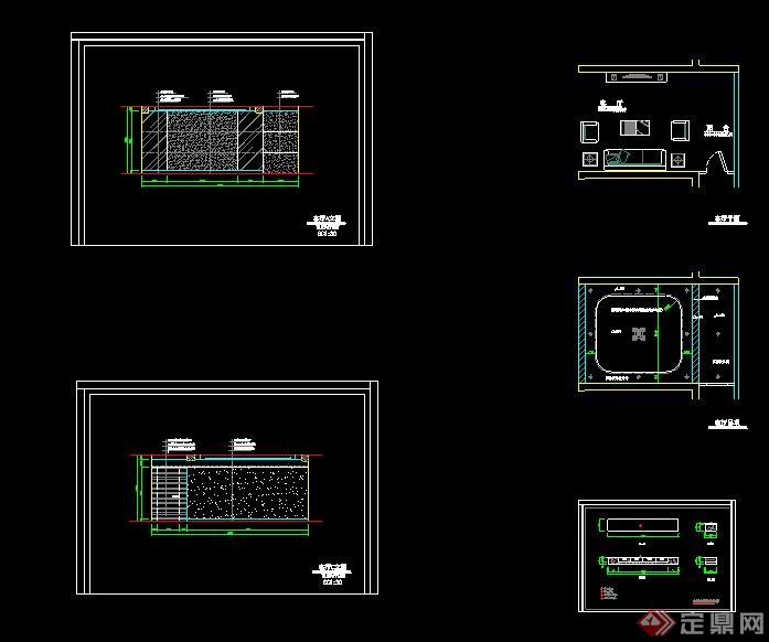 客厅装饰设计MAX模型 带CAD平立面图