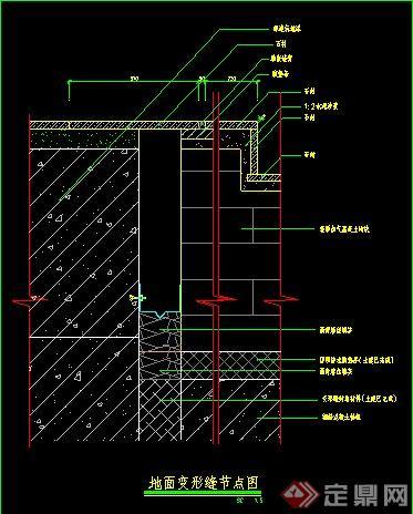 地面变形缝,排水沟,检修口等节点详图图片