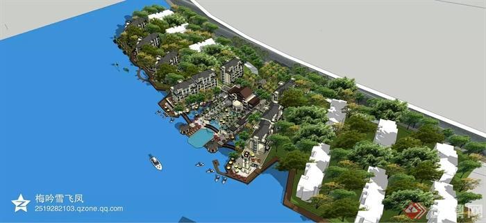 住宅区规划,住宅景观,滨水景观