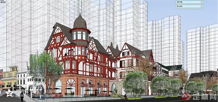 欧式,简欧建筑设计图-商业建筑植物-设计师图库
