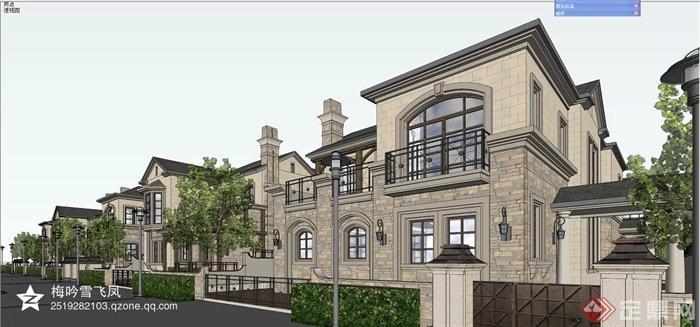欧式,简欧建筑设计图-别墅建筑植物大门围墙-设计师