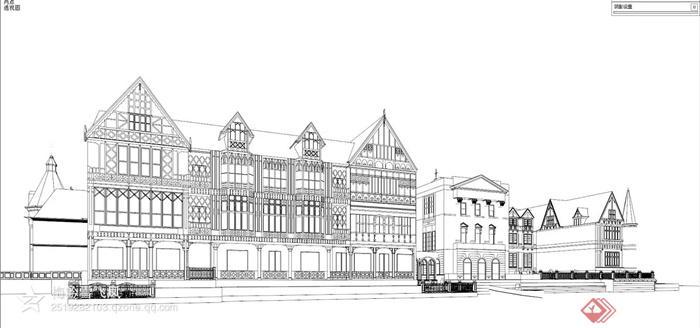 欧式,简欧建筑设计图-办公建筑-设计师图库