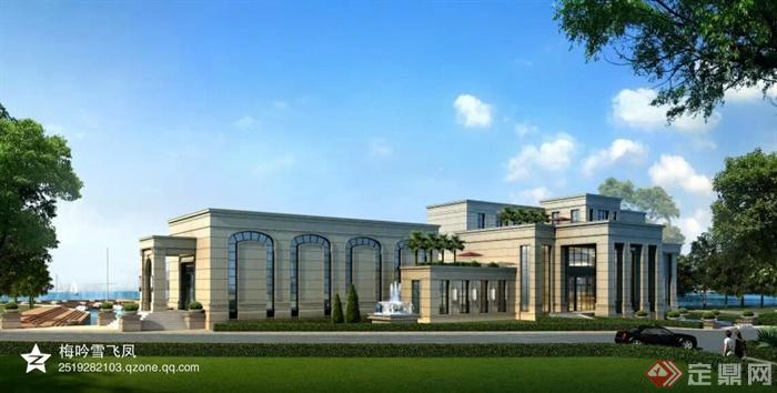 现代商业中心及欧式会所建筑-会所商业建筑-设计师