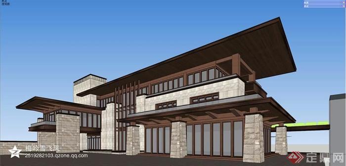 现代多层综合建筑-别墅建筑-设计师图库
