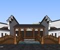茶馆,茶楼,园桥,马头墙