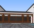 茶馆,中式门洞,马头墙