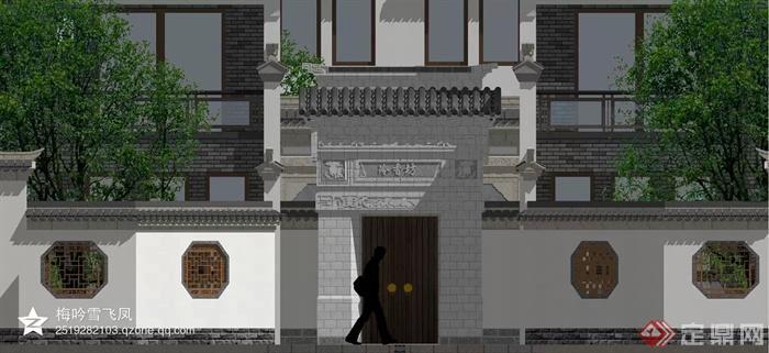 门头,大门,围墙