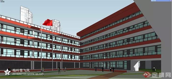 现代商业中心建筑规划-教学楼学校-设计师图库