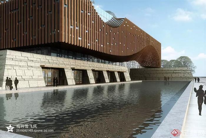现代商业中心建筑规划-博物馆科技馆展览馆-设计师