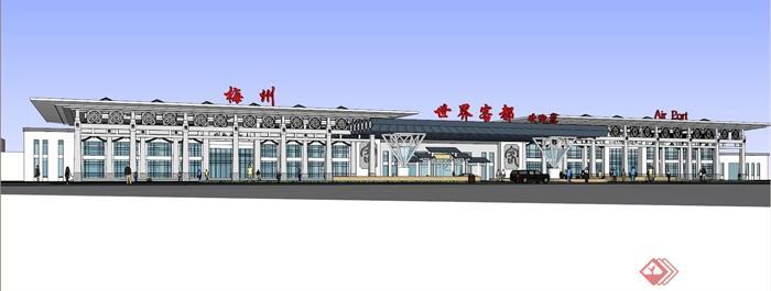 现代商业中心建筑规划-飞机场候机厅-设计师图库