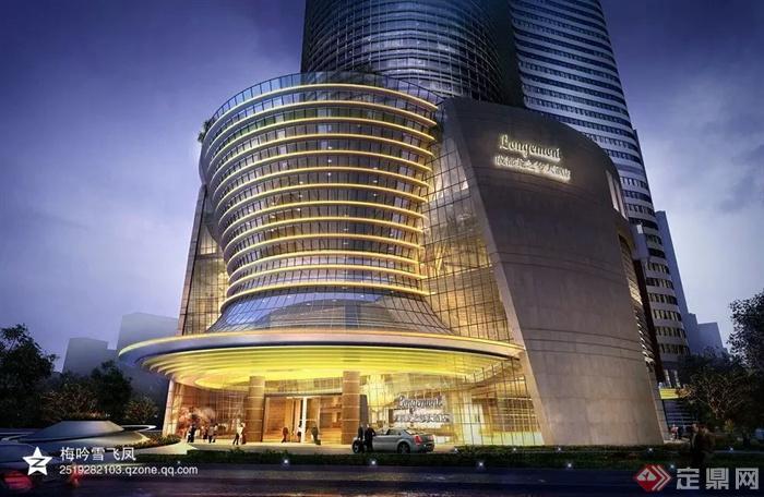 现代风格商业综合体建筑-酒店商业建筑-设计师图库